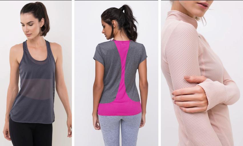445f4ebc44 As possibilidades para a moda fitness são diversas. Agora você já pode  escolher o tecido certo para sua prática esportiva. Bom treino!